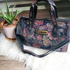 Vintage Oscar de la Renta floral tapestry bag